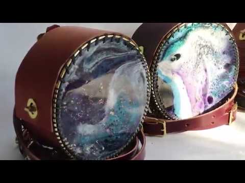 Making RESIN & LEATHER Circle Handbags