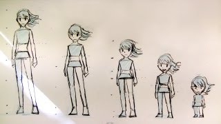 How to Draw Female Body Proportions: Teenager to Kid, Manga Style
