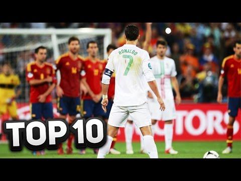 TOP 10 BEST CRISTIANO RONALDO GOALS EVER!!