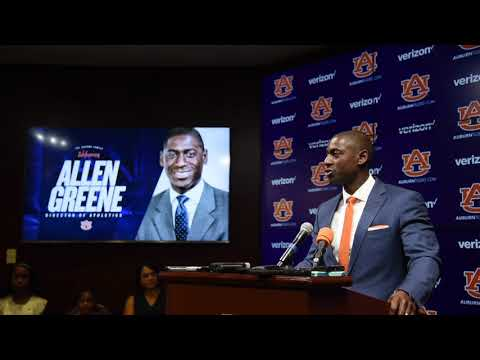 Allen Greene makes first appearance at Auburn