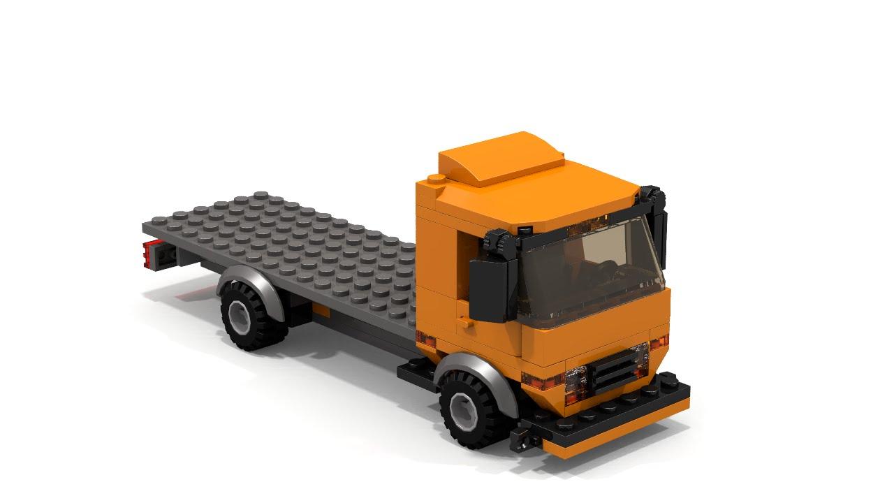 Lego Moc Flatbed Truck Building Instructions Youtube