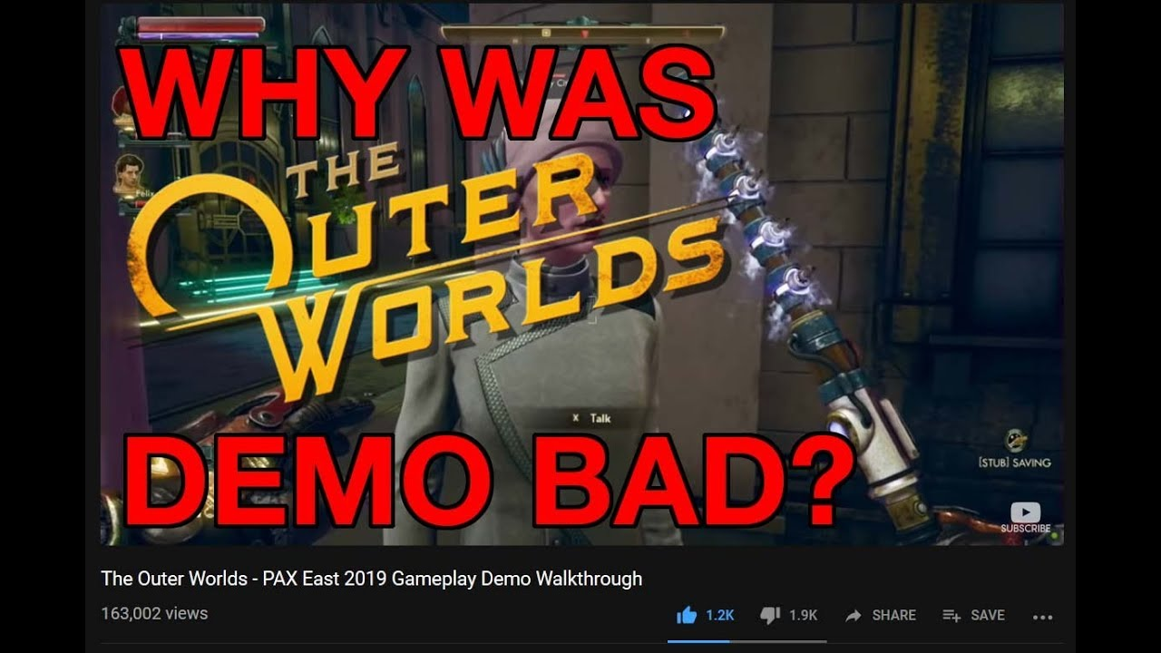 Why was The Outer Worlds PAX East 2019 demo not liked?