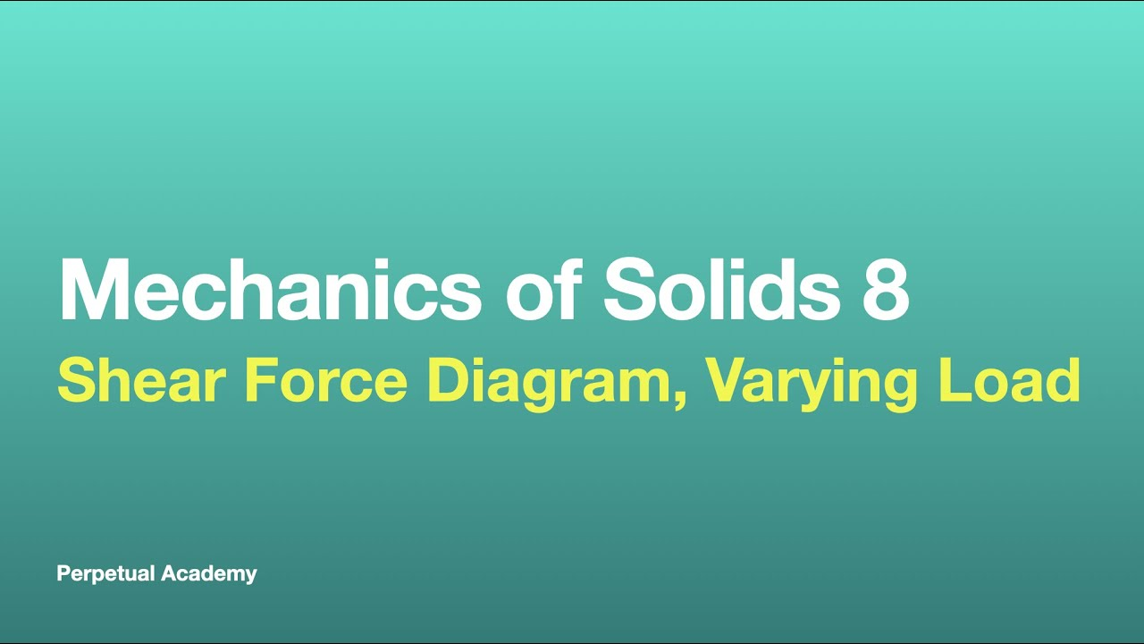 medium resolution of mechanics of solids part 2 6 shear force diagram varying load youtube
