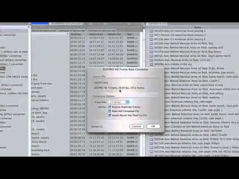 DVCPRO Frame Rate Converter - YouTube