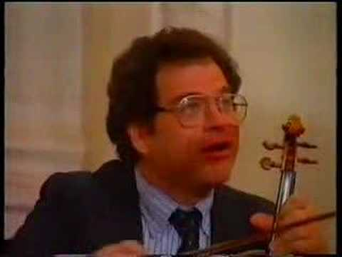 Itzhak Perlman Master Class