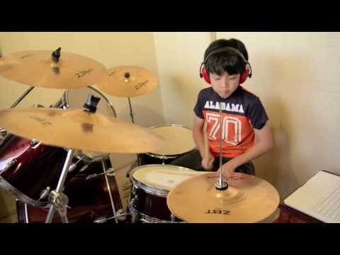 Highway Star - Deep Purple - Drum Cover By 10 Year Old Joh Kotoda