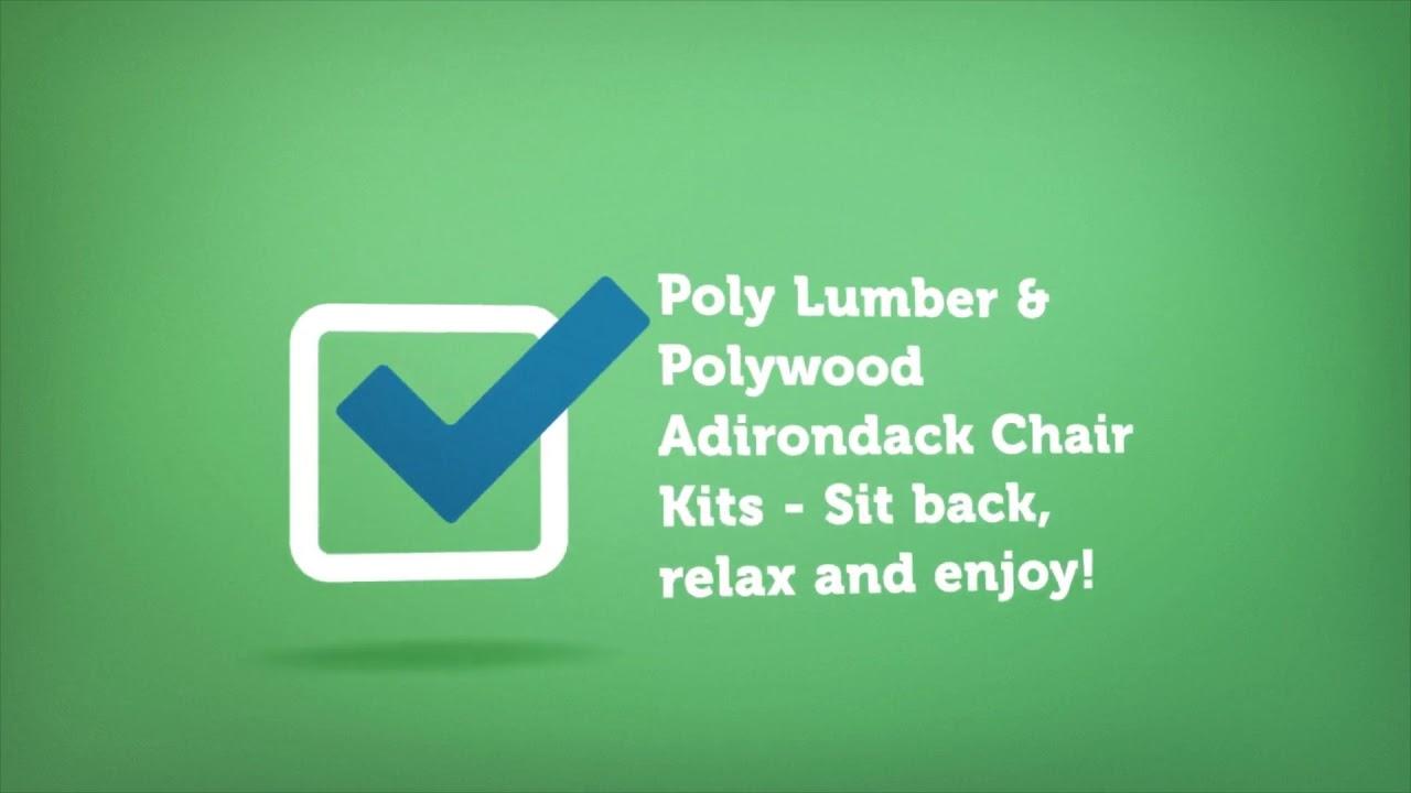 Polywood Adirondack Chair Kits | Premium Poly Patios :  (877-904-1234)