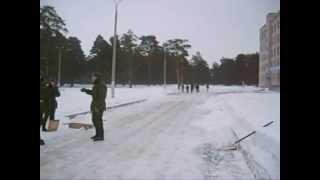 53609. зима 2008.уборка снега.ковровская учебка