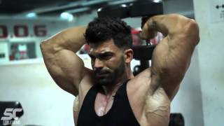 Sergi Constance   biceps and triceps workout