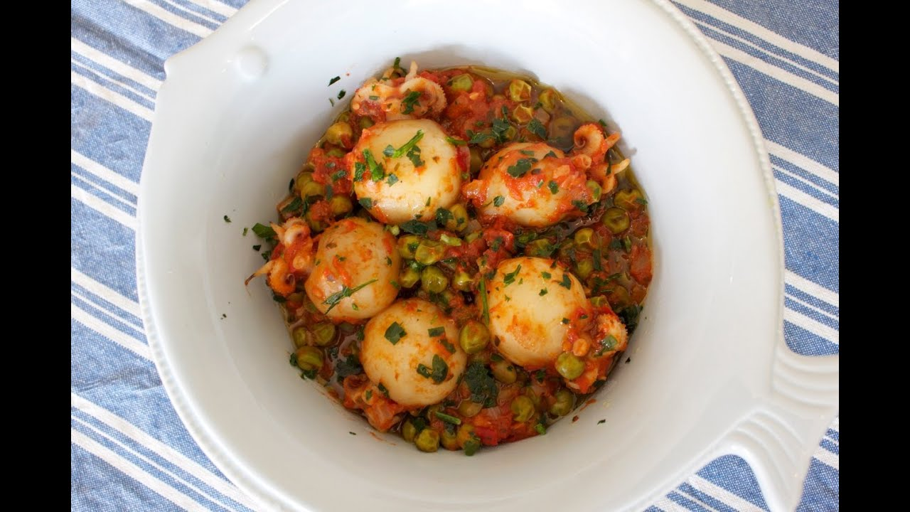 Leichte Italienische Sommerküche : Italienisches rezept: tintenfisch sepia mit erbsen und tomaten
