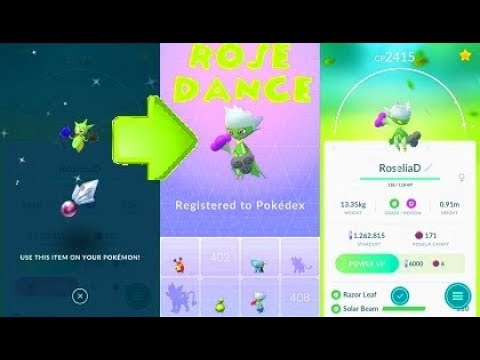 Pokemon Go Sinnoh 4th Gen Shiny Roserade Evolution Youtube