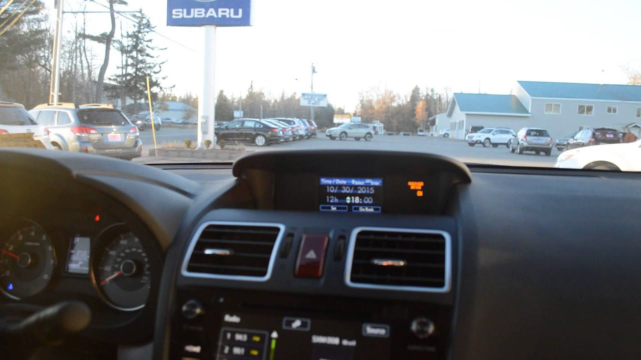 How do I change the clock on my Subaru Forester? | Stanley Subaru