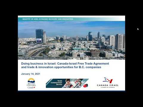 The Canada-Israel Free Trade Agreement And Innovation Opportunities For B.C. Companies