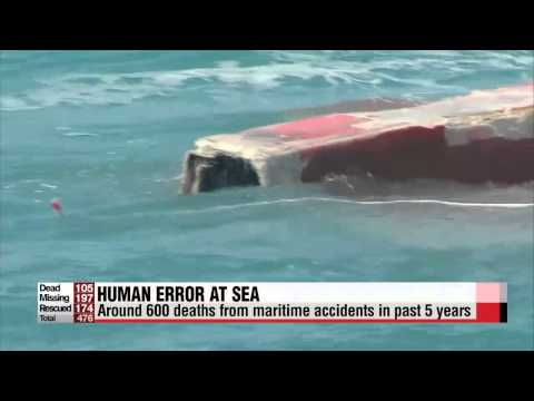 Report: 82% of maritime accidents in Korea due to human error