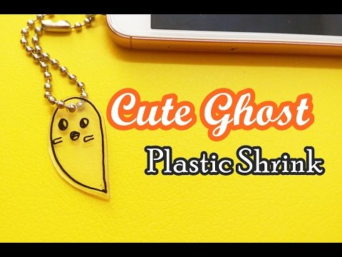 Cute Ghost Plastic Shrink Mobile Charm Craft Tutorial