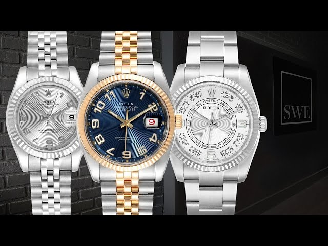 Rolex Concentric Dials - Datejust, Air-King, Oyster Perpetual | SwissWatchExpo