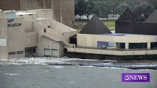 Art Museum of South Texas flooding due to storm surge YouTube Videos