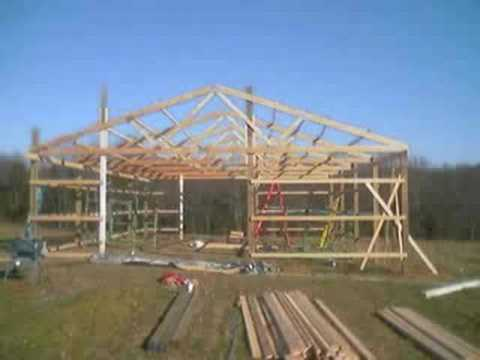 How to build a pole barn on uneven ground 8 x 6 timber sheds for How to construct a pole barn