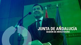 Debate de Investidura de Juanma Moreno en la Junta de Andalucía