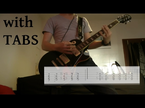Guitar tabs on screen
