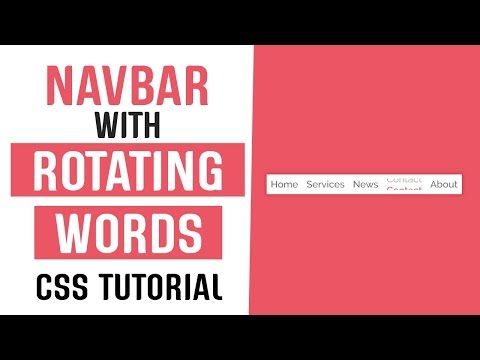 Navbar With Rotating Words Link Hover Effect CSS | CSS Link Hover Effects | CSS Tutorial thumbnail