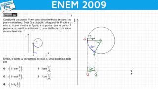 ENEM 2009 Matemática #39 - Trigonometria e Plano Cartesiano (questão difícil)