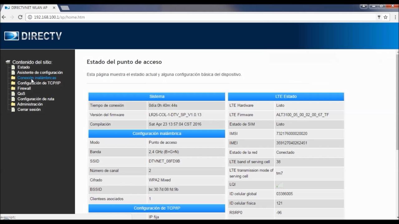 Directv Internet Cambio De Contrase 241 A Wifi Modem