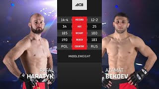 ACA 128: Рафал Харатык vs. Азамат Бекоев | Rafal Haratyk vs. Azamat Bekoev