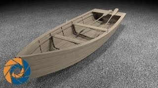 How to create a row boat in Blender