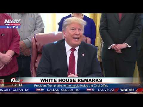WATCH: President Trump Talks Border Wall, North Korea To The Media
