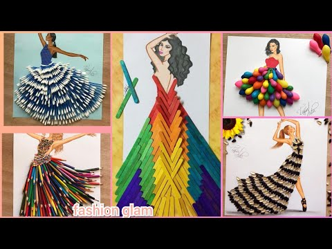 50 Creative Dress Designing Ideas With Daily Using Objects Youtube