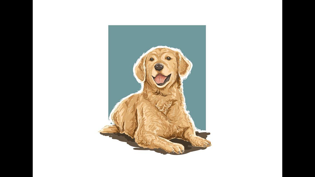Time lapse adobe illustrator dog vector painting illustration time lapse adobe illustrator dog vector painting illustration youtube ccuart Images