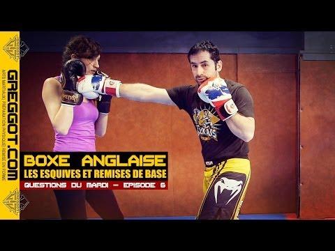 Boxe Anglaise : esquives et remises de base