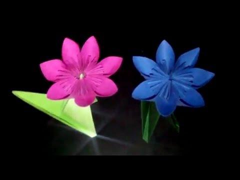 origami blumen falten 02 seerose funnydog tv. Black Bedroom Furniture Sets. Home Design Ideas