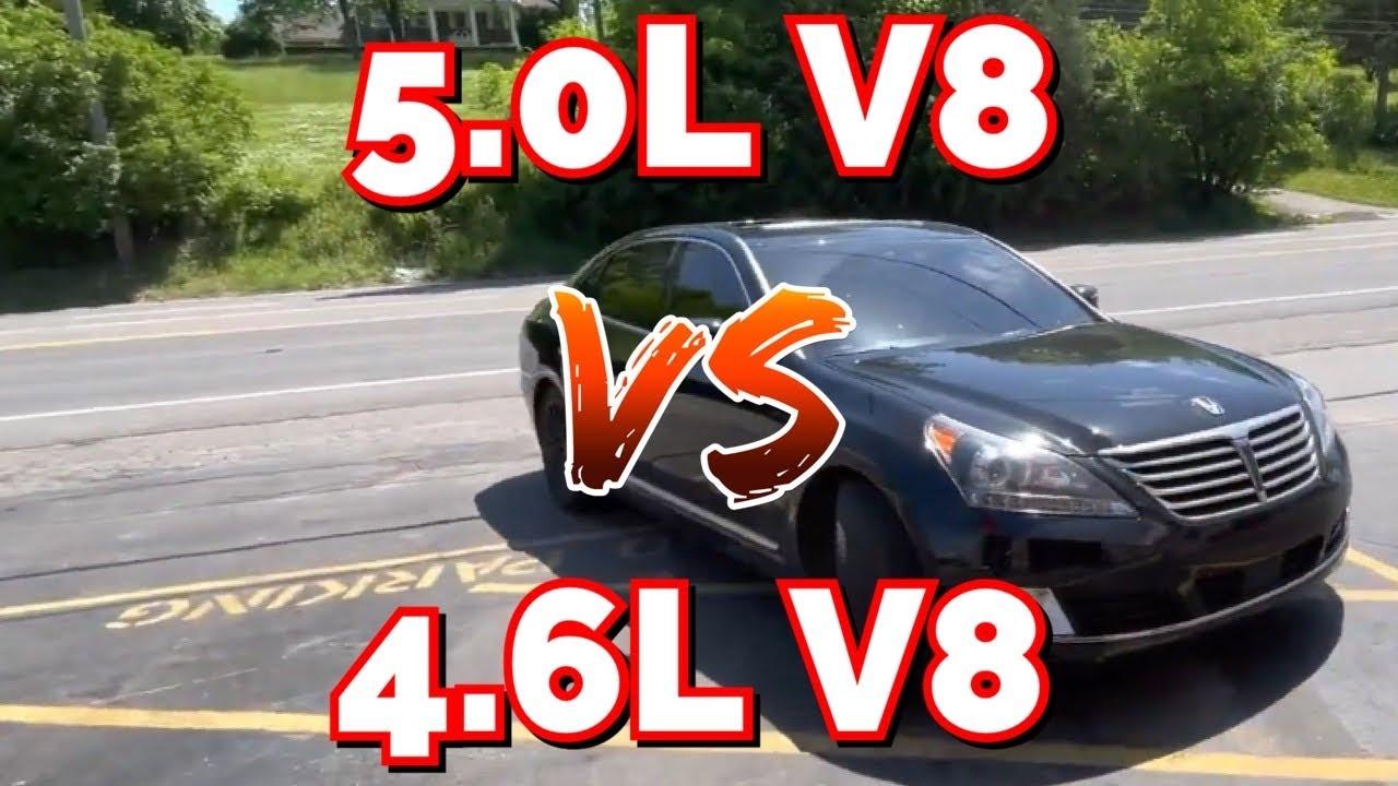 Hyundai Genesis/EQUUS 4.6L V8 Vs 5.0L V8!