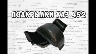 Подкрылки УАЗ 452 Буханка локеры