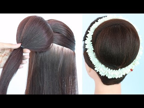 latest-juda-hairstyle-with-gajra-||-hairstyle-trick-||-bridal-hairstyle-||-wedding-hairstyle-||-juda