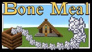 Minecraft Tutorial : Bone Meal Farm, Uses 1 Sugar Cane & make 100 Bone-Meal Every Hour.