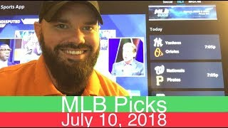 MLB Picks | July 10, 2018 (Tue.) | Baseball Sports Betting Predictions | Daily Lines & Vegas Odds
