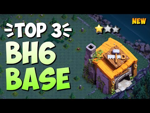 TOP 3 Best BH6 Base With Link | Best Builder Hall 6 Base W/Link Anti 1 Star | Clash Of Clans