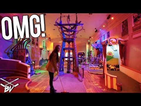 THE CRAZIEST MINI GOLF COURSE IN THE WORLD! - DOUBLE HOLE IN ONE AND INSANE ONE OF A KIND HOLES!