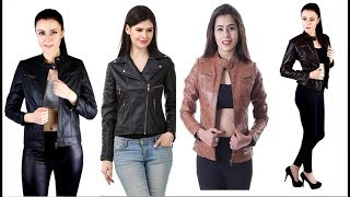 Leather jacket for girls in India | leather jacket outfit for winter