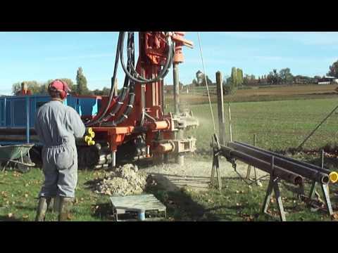 Machine de forage Stenuick S1100 Forage d'eau avec marteau fond de trou et tubage