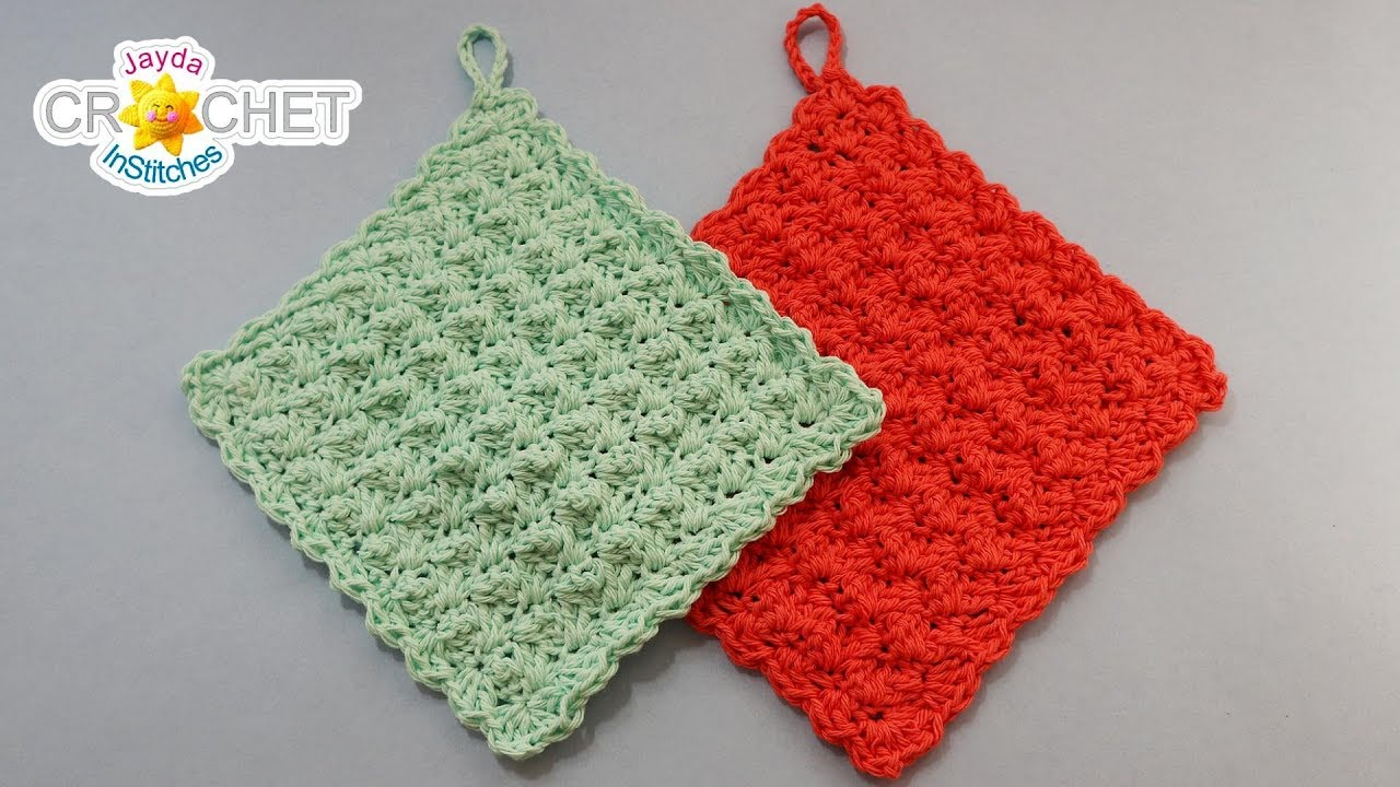 A Pretty Simple Dishcloth Crochet Quick Fix Youtube