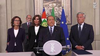 Consultazioni, Berlusconi: