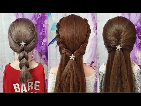 Hướng dẫn làm các kiểu tóc đẹp đơn giản dễ làm ! Easy hairstyles tutorial  for girl !