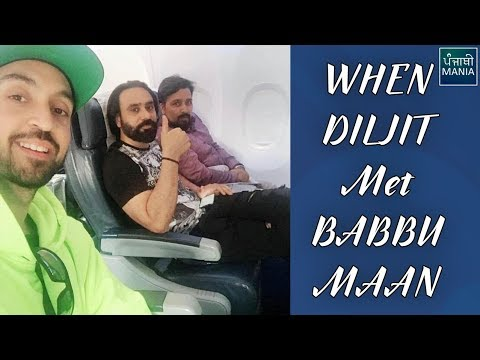 Babbu Maan and Diljit Dosanjh Travel Together On A Flight | Exclusive Pictures Revealed