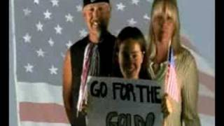 Val is cheering for U. S. A.