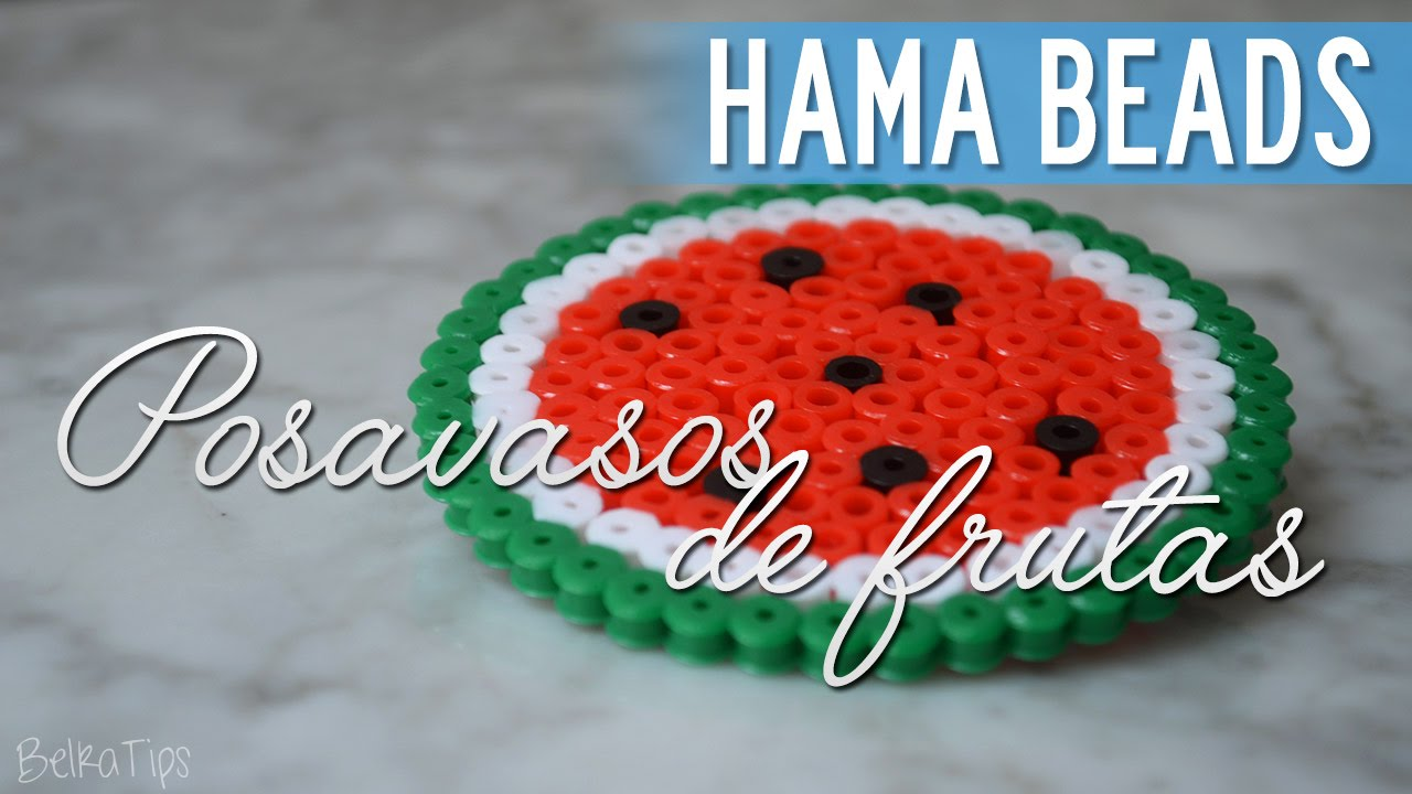 Hama beads posavasos de frutas sand a youtube - Posavasos de ganchillo ...