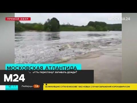 В Филевском парке затопило набережную - Москва 24